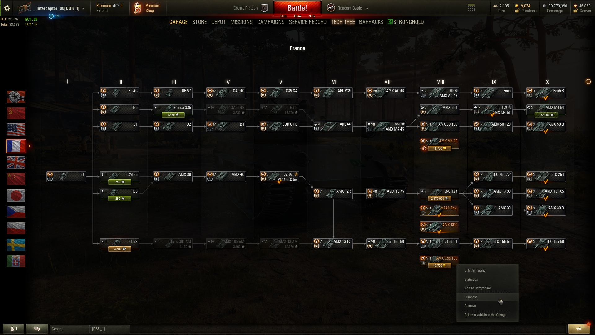 3 tanks exclided from Trade In (Lowe, AMX CDA105,FV4202