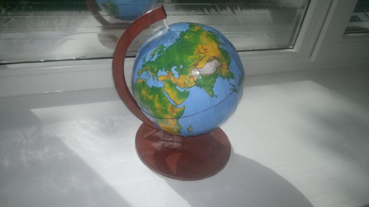 развертка карты для глобуса