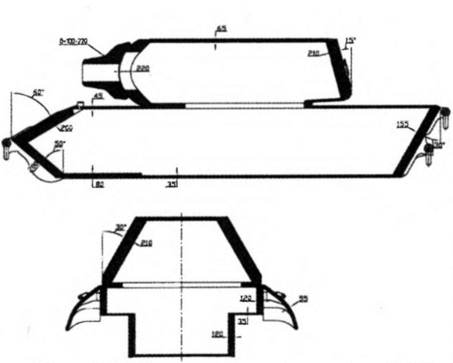 Вот схема бронирования танка: