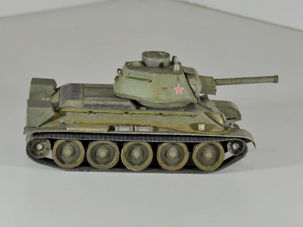К сделать танк из бумаги т-34