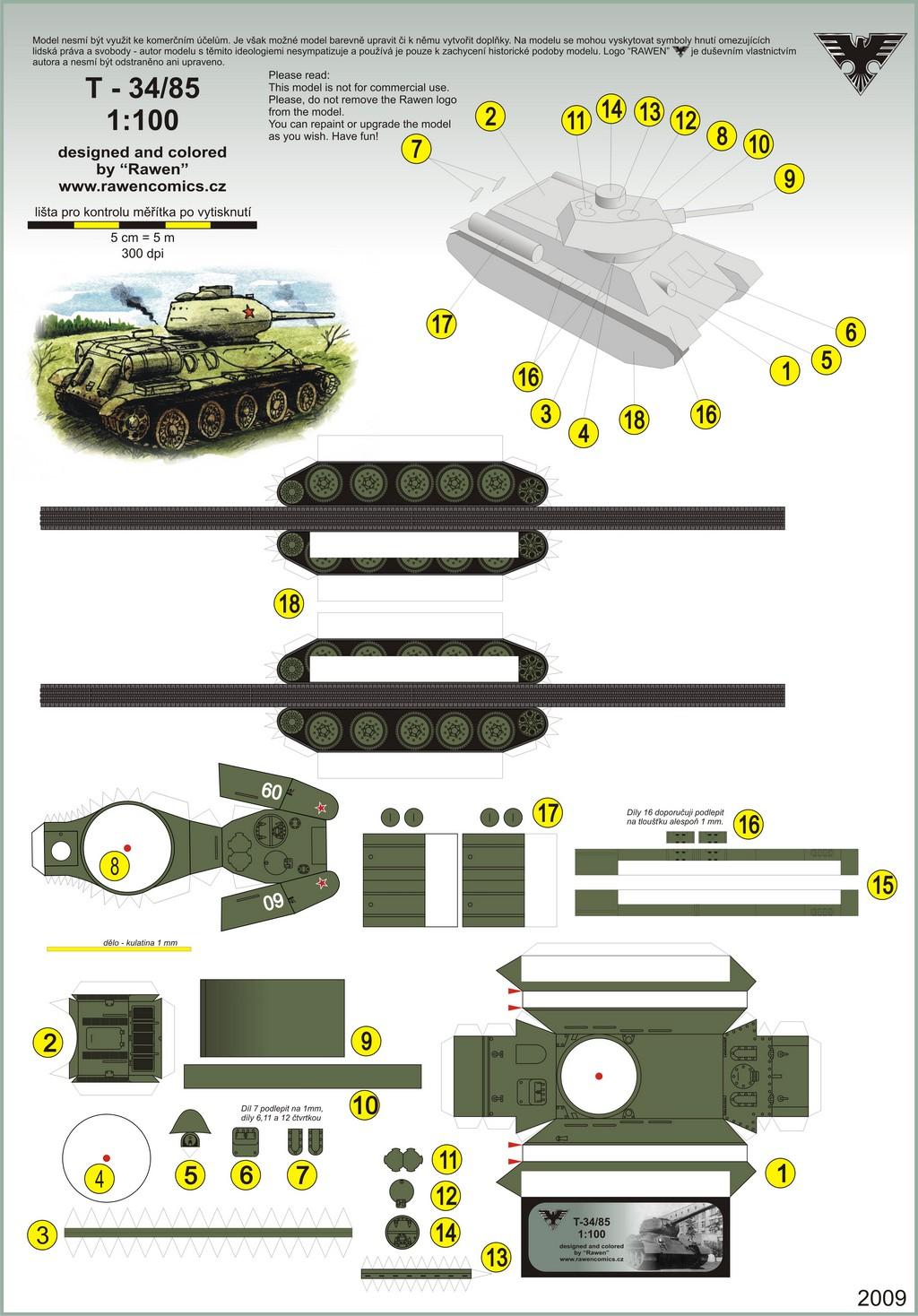 Видео как сделать из бумаги танк т-34 схема