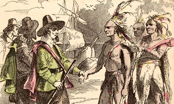indians and first settlers