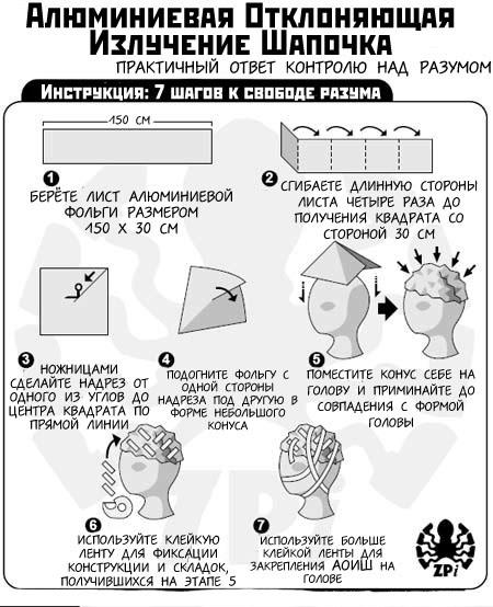 Картинки по запросу шапочка из фольги инструкция