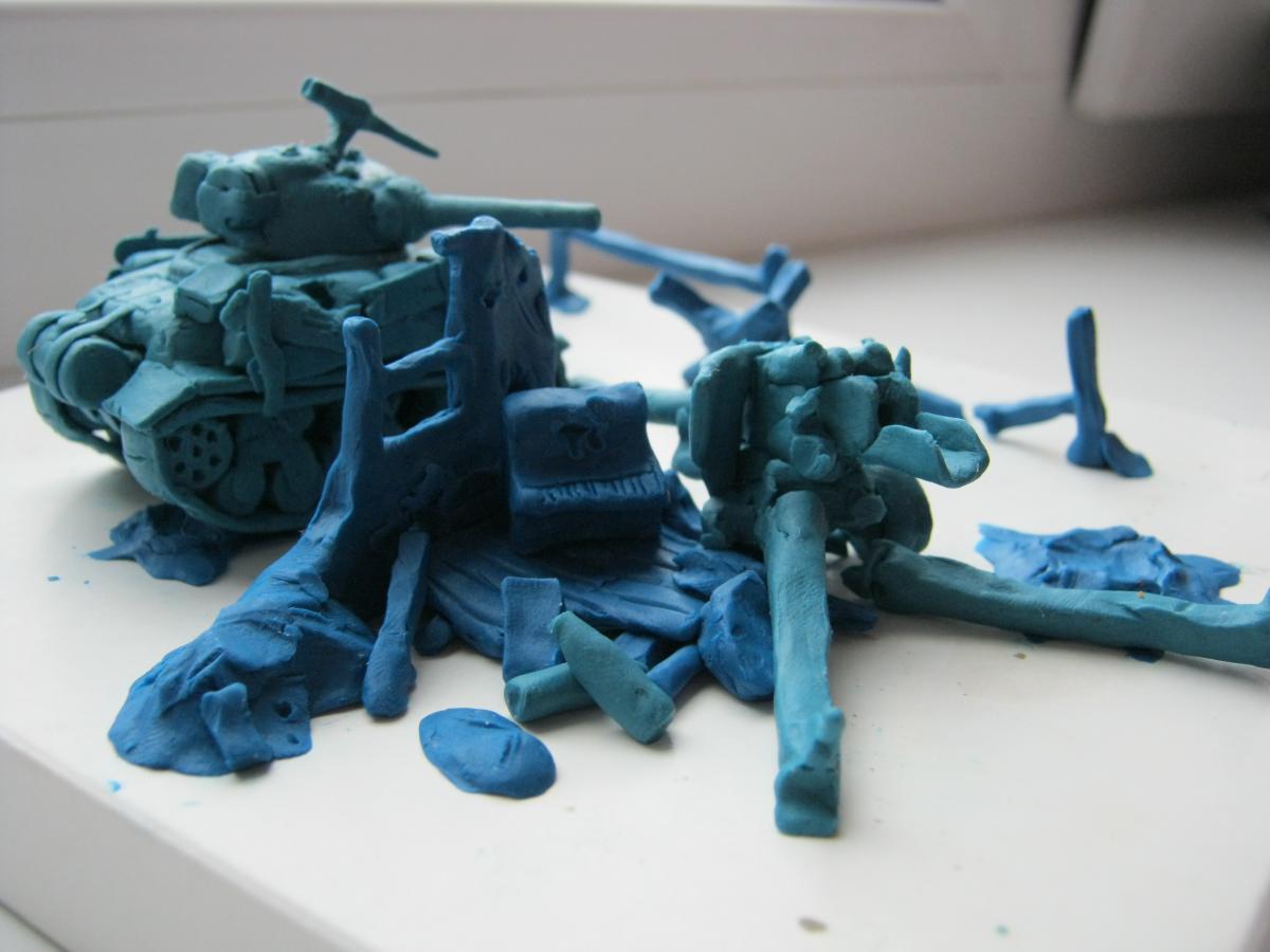 Как сделать пулемет из пластилина