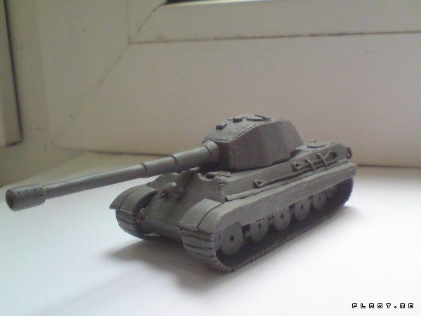 Как сделать мини танк из пластилина