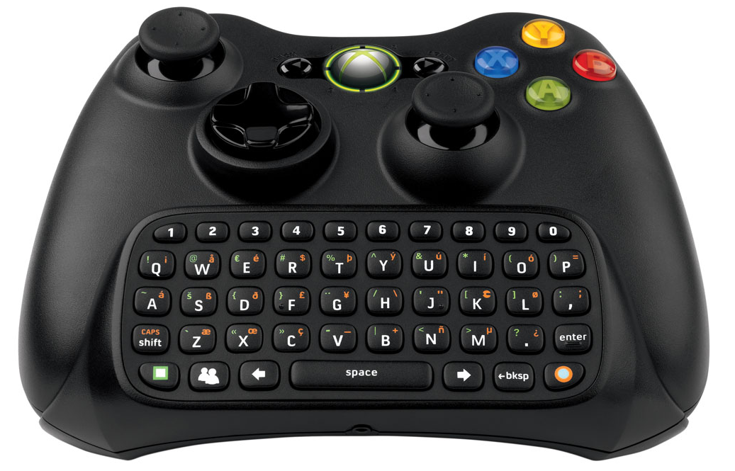 New black wireless controller messenger keyboard chatpad keypad for xbox 360 hot