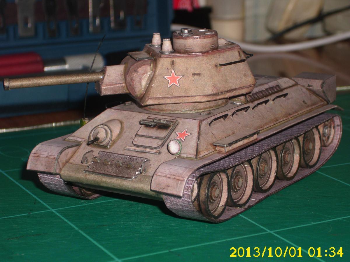 Макет т-34 своими руками 89